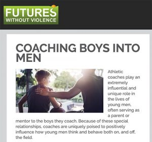 Engage Men: Coaching Boys into Men